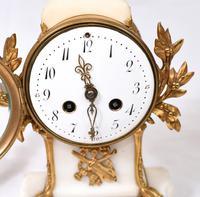 Antique Clock Set French Garniture Gilt & Marble Cherubs (5 of 14)
