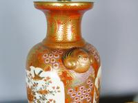Antique Japanese Kutani Vase Meiji Lamp (4 of 10)