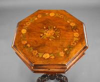 Victorian Inlaid Walnut Needlework Table (6 of 11)