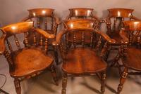 Set of 8 Captains Chairs Ash & Elm (13 of 13)