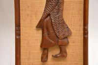 1960's Pair of Carved Walnut Decorative Reliefs Wall Art (7 of 11)