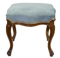 Victorian Walnut Stool on Cabriole Legs (4 of 5)