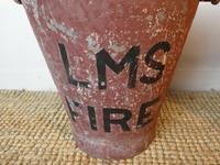 Pair 1920s Railway Lms  Fire Buckets (2 of 10)