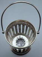 Antique English Silver Plate & Cut Glass Biscuit Barrel / Ice Bucket (5 of 6)