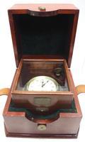 Original Thomas Mercer 2-day Marine Chronometer Ships Clock– Chain Fusee Earnshaws Detent Escapement Box & Key (3 of 14)