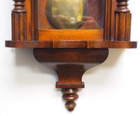 Fine Antique German Twin Walnut 8-Day Mantel Clock Vienna Striking Wall Clock (7 of 35)