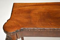 Antique Carved Walnut Card Table (3 of 10)