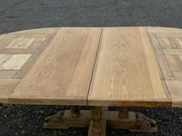 Large Round French Bleached Oak Farmhouse Table with Extensions (38 of 38)