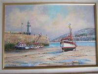 Wyn Appleford Oil on Canvas of St Ives Harbour, Cornwall (2 of 5)