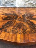 Antique Burr Walnut 3 Drawer Bedside Chest (5 of 8)