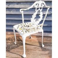 Aluminium Vintage White Painted Five Piece Patio Set (7 of 12)