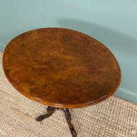 Beautifully Figured Victorian Walnut Antique Occasional Table (8 of 9)