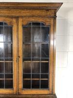 Early 20th Century Antique Oak Bureau Bookcase (14 of 17)