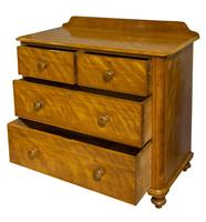 A Victorian Birch Satinwood Chest of Drawers (7 of 7)