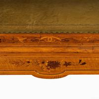 Victorian Walnut Marquetry Writing Table attributed to Edward Holmes Baldock (7 of 17)