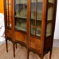 Edwardian Glazed Bookcase Inlaid Mahogany (7 of 9)