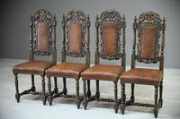 4 Carved Oak Dining Chairs (3 of 13)