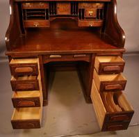 Good Oak Roll Top Desk by Maples London (12 of 12)