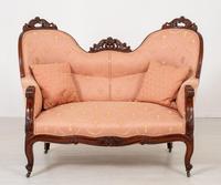 Elegant Victorian Mahogany Settee (9 of 9)