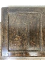 18th Century Oak Coffer with Three Panel Front (8 of 19)