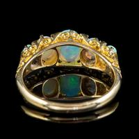 Antique Edwardian Opal Five Stone Ring 18ct Gold Dated 1908 (3 of 6)