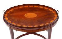 Edwardian Mahogany & Satin Walnut Tray on Stand Coffee Table c.1905 (2 of 7)
