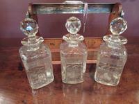 Antique Sheraton Inlaid Three Bottle Tantalus (6 of 12)