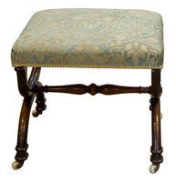 19th Century Rosewood X-framed Stool c.1830 (2 of 7)