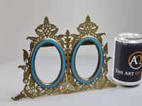 Stunning 19th Century 'Lovegrove & Flint' Double Brass & Turquoise Enamel Frame (6 of 8)
