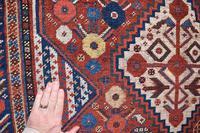 Antique Khamseh tribal rug 217x124cm (6 of 10)