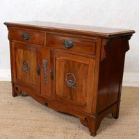Dresser Base Arts & Crafts Walnut Sideboard 19th Century (7 of 11)
