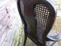 Stylish Regency Chinoiserie Lacquered Desk Chair (4 of 7)