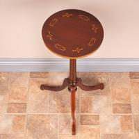Good Quality Marquetry Mahogany Wine Table (5 of 8)