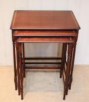Mahogany Nest of Three Tables (7 of 11)