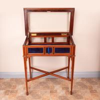 Fine Quality Edwardian Inlaid Mahogany Bijouterie Display Table (5 of 18)