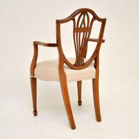 Set of 12 Antique Sheraton Style Shield Back Dining Chairs (4 of 15)