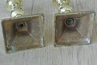 Pair of 17th Century Style Brass Candlesticks Dated 1656 W Soutter c.1910 (2 of 8)