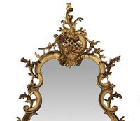 Rare Pair of 19th Century Pier Giltwood Mirrors in the Rococo Manner (3 of 4)