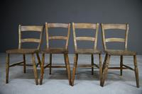 4 Rustic Elm Country Kitchen Chairs (2 of 14)