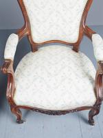 Antique Pair of French Rosewood Armchairs (12 of 19)