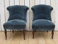 Pair of Antique French Tub Chairs (2 of 9)