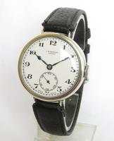 Gents 1933 silver wrist watch from J W Benson