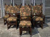Set of 8 French Oak Dining Chairs (4 of 18)