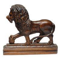 Pair of 19th Century Medici Lions (3 of 4)