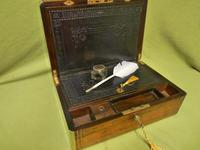 Quality Fully Brass Bound Rosewood Writing Box. Many Features. C1875 (16 of 16)