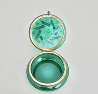 19th Century French Enamelled Glass Trinket Box c.1890 (3 of 7)