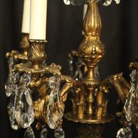 Italian Pair of 5 Light Antique Chandeliers (3 of 8)