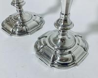 Pair of Antique Georgian 18th Century Solid Sterling Silver Candlesticks (4 of 23)