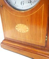 Fine Antique Bulle Electric Mantel Clock – Mahogany & Satinwood Case Mantle Clock (7 of 9)