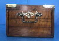 Victorian Brassbound Walnut Cigar Box (11 of 19)